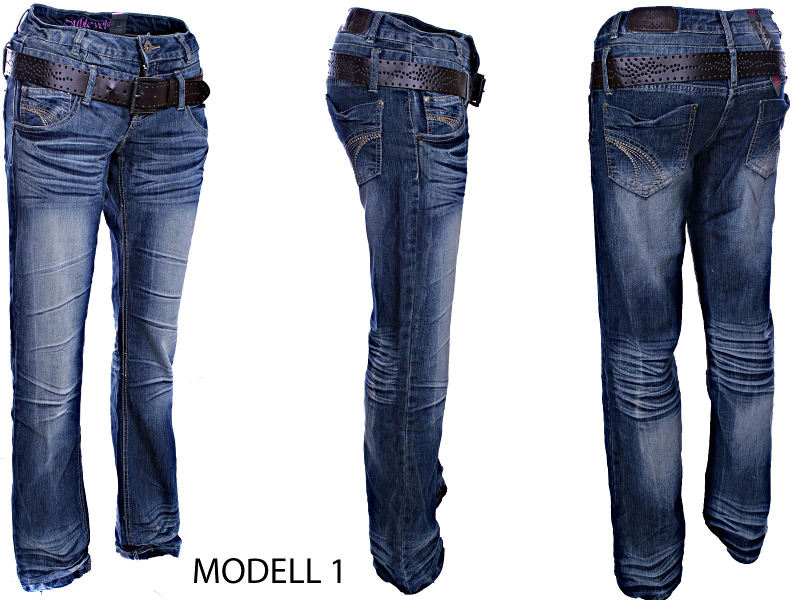 urban surface damen jeans hose stretch boysfit doppelbund. Black Bedroom Furniture Sets. Home Design Ideas